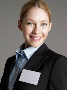 Portrait of cheerful young business womanの写真素材 [FYI03631339]