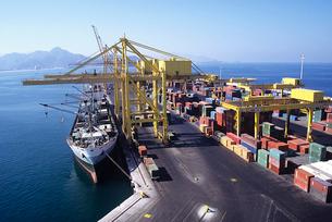 Ship Docking at Cargo Terminalの写真素材 [FYI03631471]