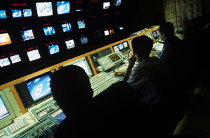Control centre of television channelの写真素材 [FYI03632206]