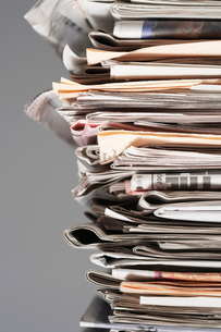 Pile of waste paper  close-upの写真素材 [FYI03632420]