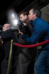 Photographers at media eventの写真素材 [FYI03635054]