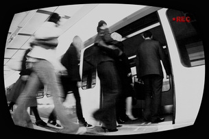 People in Surveillance Cameraの写真素材 [FYI03635642]