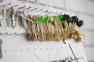 Keys on boardの写真素材 [FYI03636233]