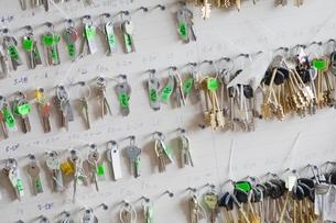 Keys on boardの写真素材 [FYI03636237]