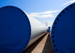 Wind turbines in Asturias  Spainの写真素材 [FYI03636262]