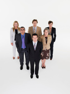 Group of businesspeople in triangle formationの写真素材 [FYI03637008]