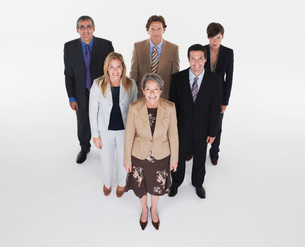 Group of businesspeople in triangle formationの写真素材 [FYI03637013]