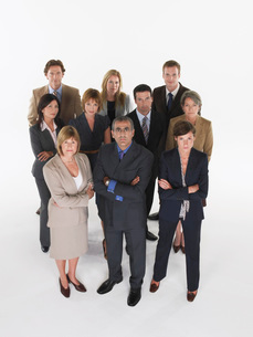 Group of businesspeople in triangle formationの写真素材 [FYI03637015]