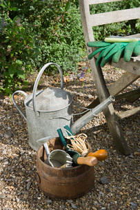 Watering Can and Garden Toolsの写真素材 [FYI03637109]