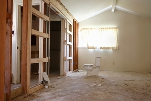 Partition wall in house renovation  Houston  Texasの写真素材 [FYI03637736]
