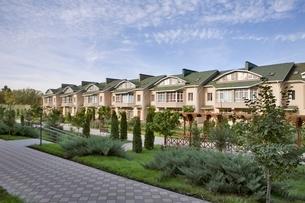 New housing developmentの写真素材 [FYI03637863]