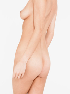 Nude Young Woman mid sectionの写真素材 [FYI03638370]