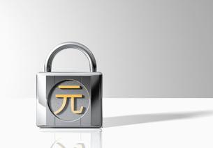 Padlock with Pi symbolの写真素材 [FYI03638409]