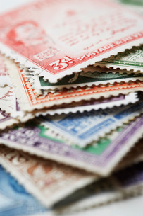 Pile of Postage Stampsの写真素材 [FYI03638593]