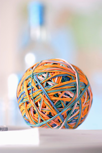 Rubber bands in ballの写真素材 [FYI03638863]