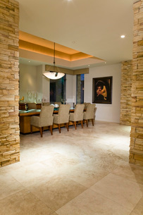 Modern dining room interiorの写真素材 [FYI03639510]