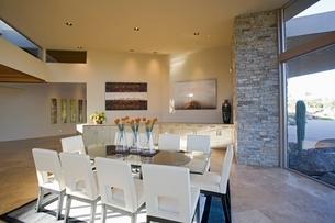 Sunlit Palm Springs dining roomの写真素材 [FYI03639935]
