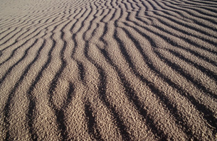 USA New Mexico White Sands National Park rippled sand duneの写真素材 [FYI03640069]