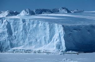 Antarctica Weddell Sea Riiser Larsen Ice Shelf Iceberg withの写真素材 [FYI03640072]