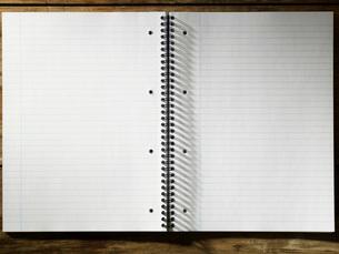 Blank Spiral Notepadの写真素材 [FYI03640133]