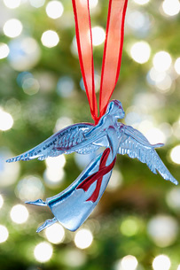 Angel Christmas decoration close-upの写真素材 [FYI03640230]