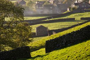 Village Yorkshire Dales Yorkshire Englandの写真素材 [FYI03640597]