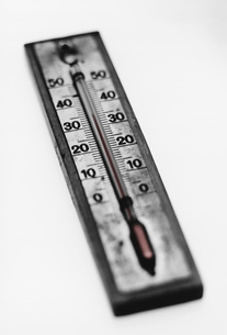 Thermometer (b&w)の写真素材 [FYI03641035]