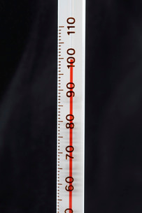 Thermometer close-upの写真素材 [FYI03641099]
