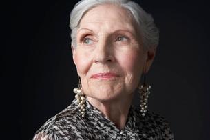 Senior Woman with Pearl Earringsの写真素材 [FYI03641161]