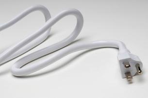White power cordの写真素材 [FYI03641468]