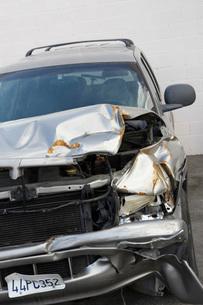 Close-up of damaged carの写真素材 [FYI03642609]