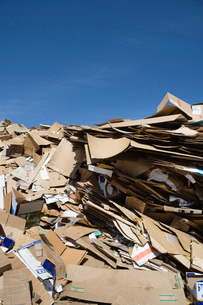 Pile of cardboard boxesの写真素材 [FYI03642707]