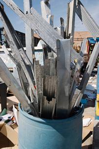 Metal parts in barrelの写真素材 [FYI03642715]