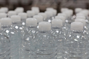 Close-up view of bottles of waterの写真素材 [FYI03642968]