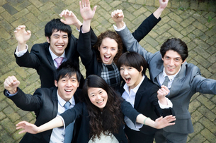 Businesspeople celebrating successの写真素材 [FYI03644725]