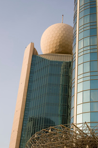 Dubai UAE Architectural detail of the Etisalat Communicationの写真素材 [FYI03645762]