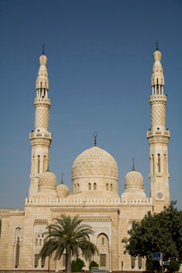 UAE Dubai The Jumeirah Mosque the only mosque which non-Muslの写真素材 [FYI03645800]