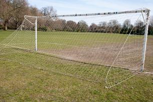 Soccer goal in morningの写真素材 [FYI03646764]