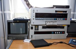 Television and audio equipment in studioの写真素材 [FYI03649370]