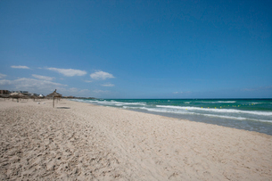 Tranquil view of beach, Sousse, Tunisiaの写真素材 [FYI03651626]