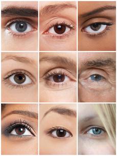 Collage of human eyesの写真素材 [FYI03652735]