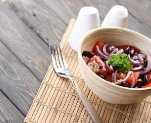 Close up of spring saladの写真素材 [FYI03653660]