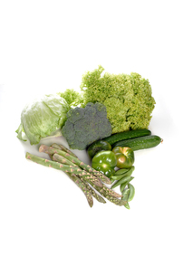 Composition of vegetables on white backgroundの写真素材 [FYI03653764]