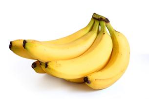 Bananas on white backgroundの写真素材 [FYI03653852]
