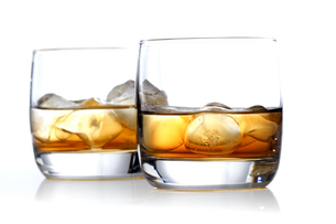 Close-up of glass with whiskyの写真素材 [FYI03653968]