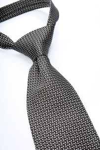 Tie on white background - close-upの写真素材 [FYI03654148]