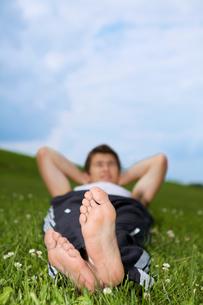 Man's footの写真素材 [FYI03654210]