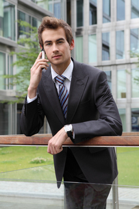portrait of young confident caucasian businessmanの写真素材 [FYI03655356]