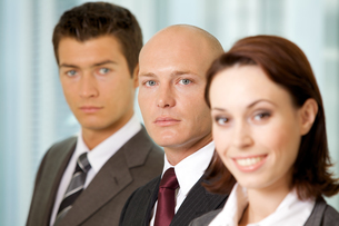 Portrait of young caucasian business people in officeの写真素材 [FYI03655678]