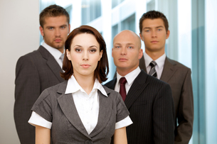 Portrait of young caucasian business people in officeの写真素材 [FYI03655682]